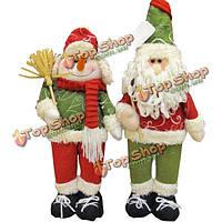 Милый отец Рождественский снеговик с метлой подарка Xmas украшения