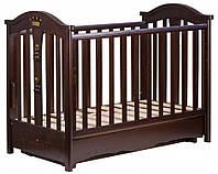 Детская кроватка Трия Royal маятник+ящик (орех)