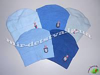 Детские шапки для мальчиков оптом. 50% шерсть, р.46-48см (5 шт в упаковке)