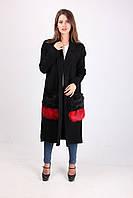 Качественное пальто с накладными карманами, фото 1