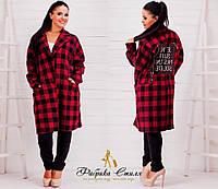 Пальто большого размера ,Ткань шерсть Без подкладки Декорирован двумя булавками, 2 расцветки яс № 9422
