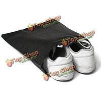 Портативные пыленепроницаемый обувь сумка для хранения путешествия шнурок обувь мешки