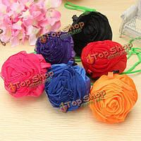 Розы цветы многоразовые складные хозяйственная сумка продуктовый мешки tote