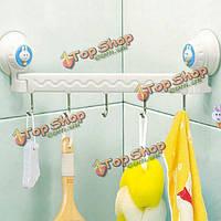 5 крючков на вакуумных присосках для ванны и кухни держатель