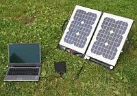 Зарядное устройство на солнечных модулях