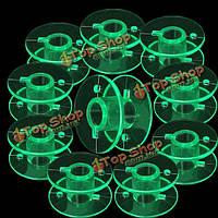 10шт зеленый пластиковые катушки бобины швейная машина аксессуары для Husqvarna Viking
