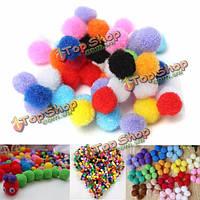 50шт 1см красочные пушистые помпоны шары DIY ручной работы пошив одежды аксессуары