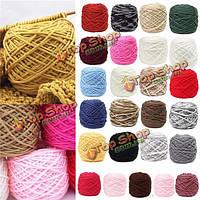 200г 25 цвет мягкой хлопчатобумажной ручной вязания пряжи гладкой шерстяной пряжи мяч шерсти шарф baby одежда
