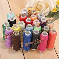 24 цвета нитки хлопчатобумажные швейные катушки швейные машины аксессуары