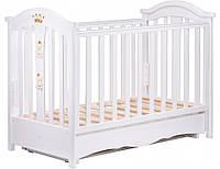 Детская кроватка Трия Royal маятник+ящик (белый)