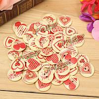 50шт различные узоры деревянные сердце-форма кнопки швейные DIY Craft сумка шляпа одежда декор швейные бу