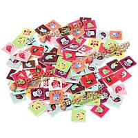 Поделки ремесло кнопка кошелек детская одежда украшения шитье 100шт деревянные сова выкроек кнопки