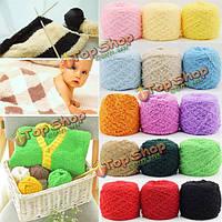 100г 26 цветов утолщенной трехслойную мягкой ватки вязание шерстяной пряжи шарф шляпа свитер пряжи мяч
