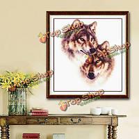 42x45см DIY вышивки крестом набор для вышивки волк тотем домашнего декора