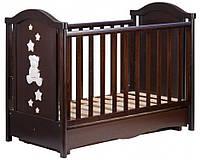 Детская кроватка Трия Teddy маятник+ящик (орех)