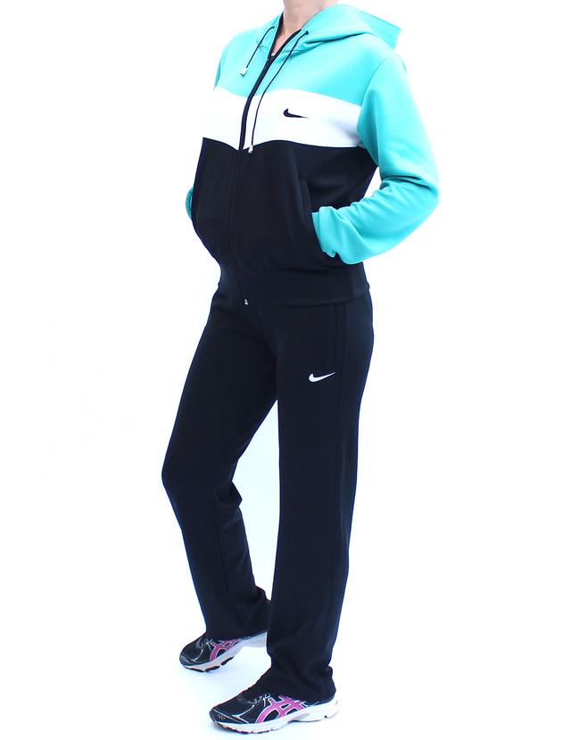 трикотажный женский спортивный костюм с верхом цвета морской волны фото teens.ua