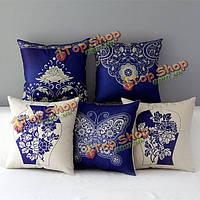 Chinoiserie Бабочка фарфор цветок наволочка хлопок белье диван офис Чехлы