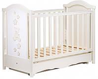 Детская кроватка Трия Teddy маятник+ящик (слоновая кость)