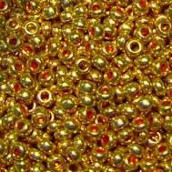 Чешский бисер Preciosa 18581-573 золото металлизированный