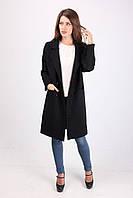 Женское пальто классического черного цвета, фото 1