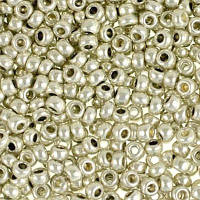 Чешский бисер Preciosa 18503-571 металлизированный, цвет серебро, 5г