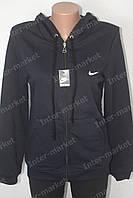 Женская спортивная черная кофта Nike на байке