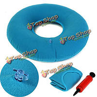 Надувные медицинские геморрое резиновые круглого подушка сиденья подушка синий ПВХ