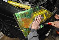 Желтая пленка хамелеон для тонировки фар 100х30 см