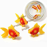 3шт аквариумных рыб бак artificail glodfish моделирования плавание рыбы