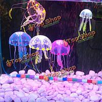 5см искусственный силиконовый яркие медузы для аквариумных рыб украшения