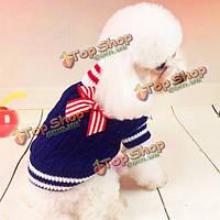 Хлопчатобумажный свитер военно-морского флота собаки comforable теплый зимний свитер