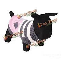 Нашивка ромб собаку дышащие вязаные свитера и пиджаки одежда
