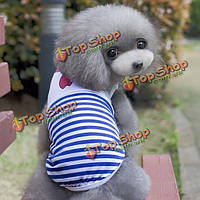 Летний жилет щенка школьной формы жилета собаки кошки одежду собаки