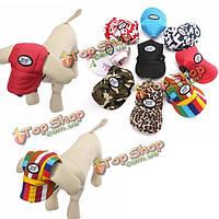 """Холст \ летний малый любимчик собаки кота бейсбол козырек шляпу крышка ремешок щенка sunbonnet"""""""