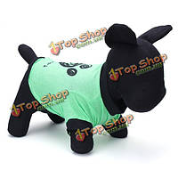 Летняя одежда зеленого следа собак Pet футболка собачка жилет