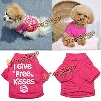 Даю бесплатный целует маленьких щенка собаки любимчика хлопок T рубашка лето жилет