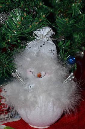 Новогодние украшения Снеговик большой стоящий белый 0259, фото 2