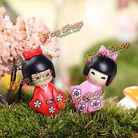 Мини симпатичные девушки кимоно сад микро-ландшафтных украшений
