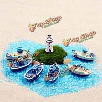Смола рыбацкая лодка микро-ландшафта ЭКО бутылки DIY украшения