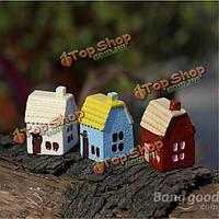 Поделки миниатюрный загородный дом украшениями в горшке декора сада