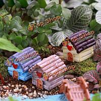 Микро пейзаж украшения смолы мини-дом для сада декор