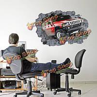 Пробить машину настенные стикеры 3D домашнее украшение