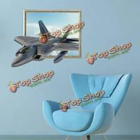 3D самолеты наклейки для стен небо стены искусства наклейки 27-дюймов съемный декор дома