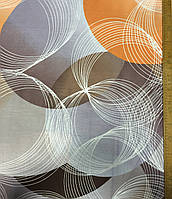 Бязь с оранжевыми, сиреневыми и коричневыми крупными кругами, фото 1