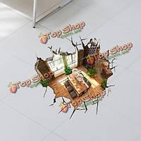 3D стена подвала наклейки 23-дюйма съемный пол отверстий стены искусства наклейки домашнего декора