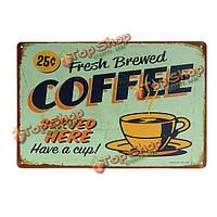 Стены паб таверна декор металл Винтаж декоративная роспись кофе знак