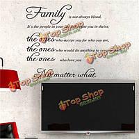 Семья цитатой стены стикер съемных Термоаппликации росписи diy гостиная арт декор дома