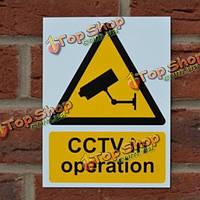 4шт СТН в предупреждающих камеры наклейки наклейки деколь знаки стен работа безопасности 20 х 15 см