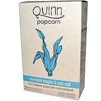 Quinn Popcorn, Попкорн для приготовления в микроволновой печи, Вермонтский кленовый сироп и морская соль, 2 пакета, 3.6 унций (102 г) каждый