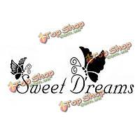 22*72см сладких снов бабочки Цитата ПВХ стикер стены обои zy8136